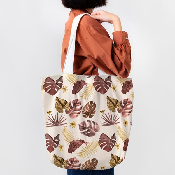 Shopping bag in canvas stampato