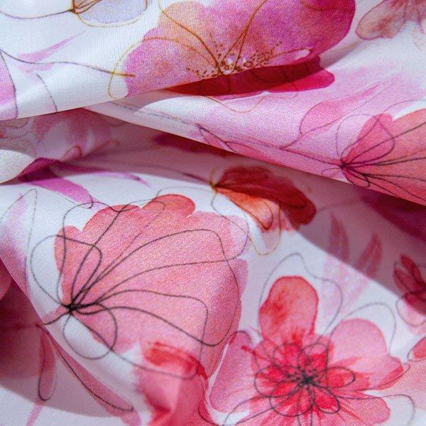 MondoAgile - Stampa Sublimatica su tessuto - Dettagli stampa effetto floreale a colori su tessuto