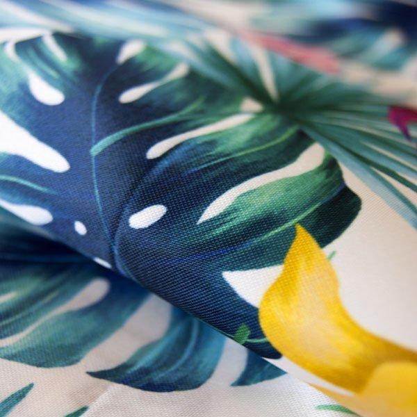 MondoAgile - Stampa Sublimatica su tessuto - Dettagli stampa effetto piante a colori su tessuto